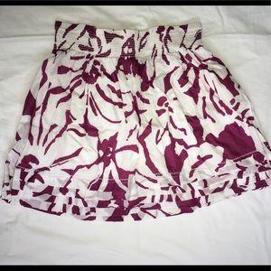 Purple and White Mini Skirt